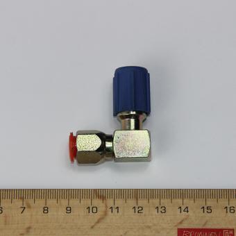 Befülladapter gewinkelt, R12 auf R134a, Niederdruck